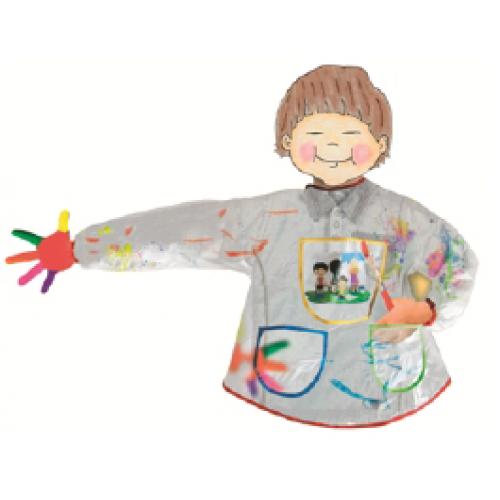 Školská zástera s rukávmi Univerzálna