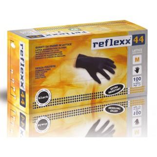 Reflexx 44 100ks. latexové rukavice čierne