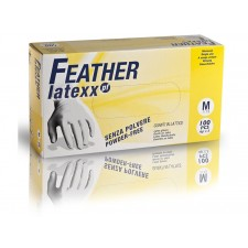 FEATHER latexx PF 100ks. latexové rukavice bez púdru