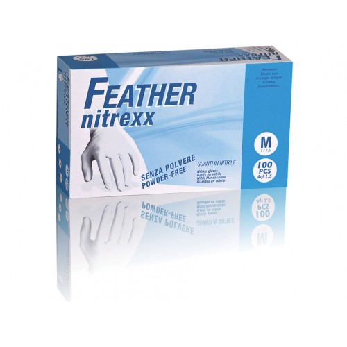 FEATHER nitrexx 100ks. nitrilové rukavice bez púdru
