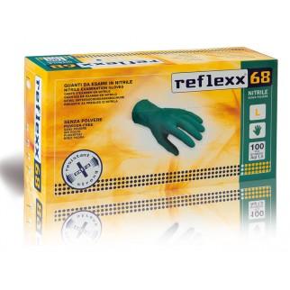 Reflexx 68 100ks. nitrilové rukavice bez púdru