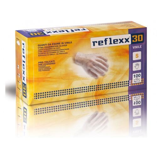 Reflexx 30 100ks. vinylové rukavice s púdrom