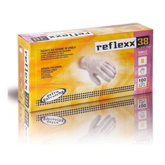 Reflexx 38 Stretch 100ks. vinylové rukavice bez púdru