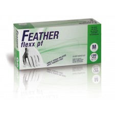FEATHER flexx pf 100ks. vinylové rukavice bez púdru