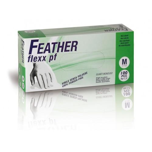 FEATHER flexx pf 100ks. vinylové rukavice bez púdru